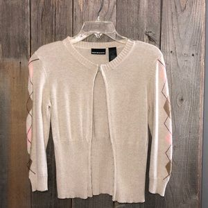 DKNY Size M Tan Button Up Sweater Cardigan